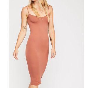 Free People Seamless Tea Length Slip Dress, M/L